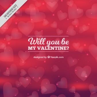 Fundo desfocado fantástica de corações para Dia dos Namorados