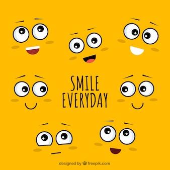 Fundo diário do sorriso