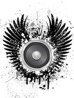 Fundo do altofalante da música do Grunge