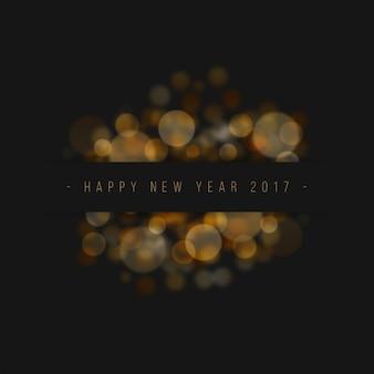 Fundo do ano novo bonito com efeito do bokeh