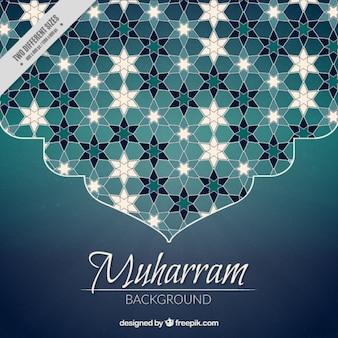Fundo do ano novo islâmico com decoração abstrato bonito