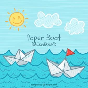 Fundo do barco de papel