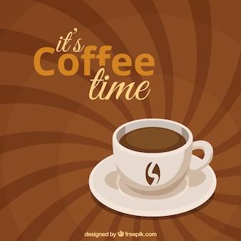 Fundo do café retro