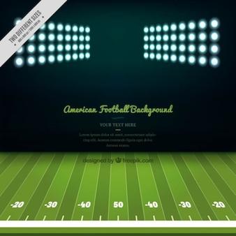 Fundo do campo de futebol americano