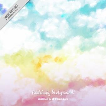 Fundo do céu em cores pastel