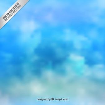 Fundo do céu em tons de azul