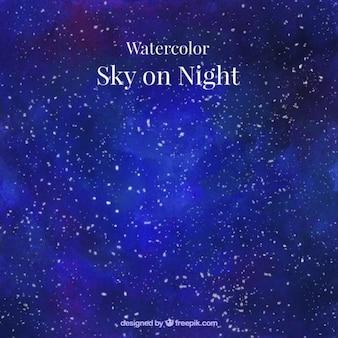 fundo do céu estrelado Watercolor