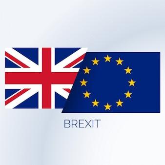 Fundo do conceito do brexit com bandeiras do Reino Unido e da UE