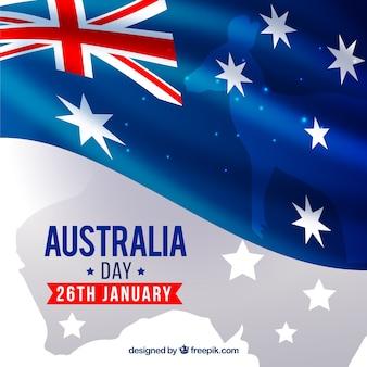 Fundo do dia Austrália com elementos representativos