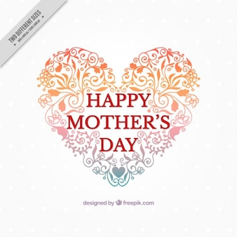 Fundo do dia bonito do coração forma da mãe