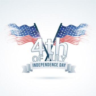 Fundo do dia da Independência com bandeiras americanas do vintage