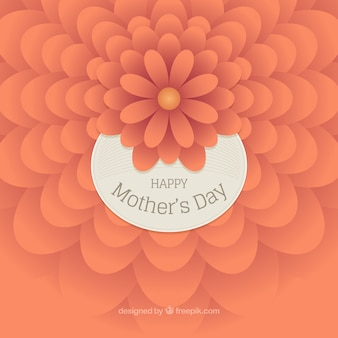 Fundo do dia da mãe com a flor alaranjada no estilo abstrato