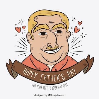Fundo do dia do pai com ilustração