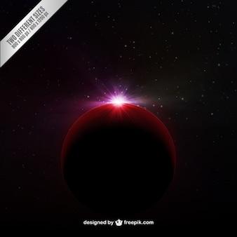 Fundo do espaço com mars brilhantes
