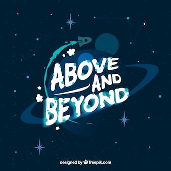 Fundo do espaço com mensagem
