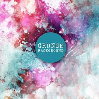 Fundo do estilo de Grunge com pinceladas coloridas