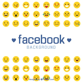 Fundo do Facebook com emoticons