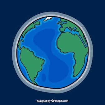Fundo do globo terrestre