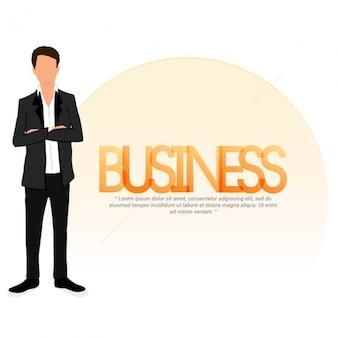 Fundo do homem de negócios com os braços cruzados
