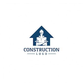 Fundo do logotipo da construção