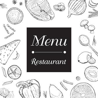 Fundo do menu do restaurante