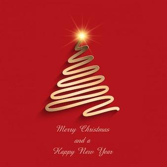Fundo do Natal com projeto da árvore rabisco