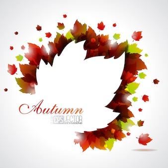Fundo do outono da silhueta da folha