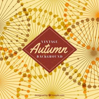 Fundo do outono do vintage com estilo abstrato