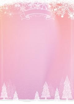 Fundo do quadro-negro de Natal com floco de neve e beira da bola de xmas