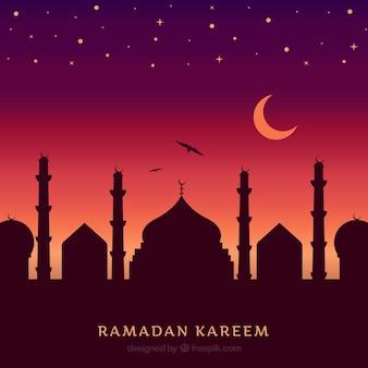 Fundo do ramadan do por do sol