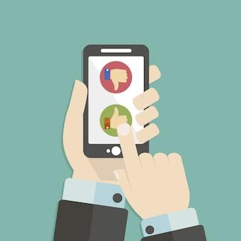 Fundo do telefone móvel