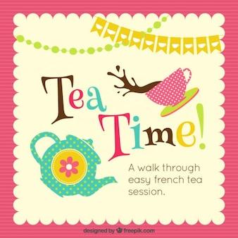 Fundo do tempo do chá