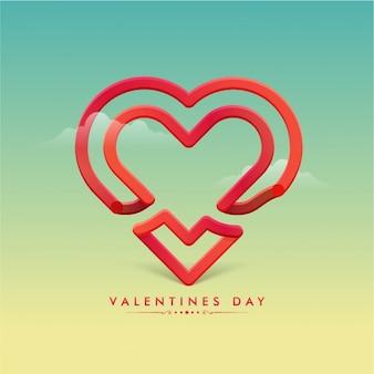 Fundo do Valentim com coração abstrato