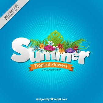 Fundo do verão com flores tropicais