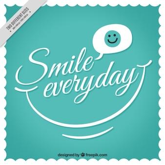 """Fundo do vintage com frase """"sorriso todos os dias"""""""