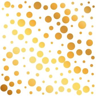 Fundo dourado círculos padrão pode ser usado como um papel de embrulho ou design wallpaper
