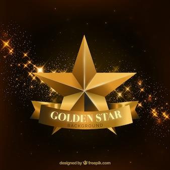 Fundo dourado de estrelas de luxo