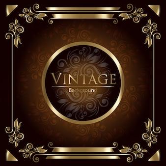 Fundo dourado do vintage