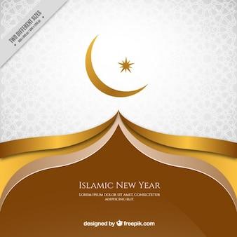 Fundo dourado elegante do ano novo islâmico