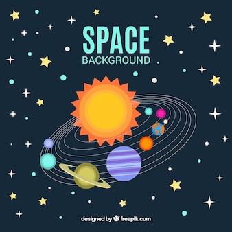 Fundo e estrelas do sistema solar