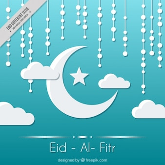 Fundo Eid-al-Fitr com a lua