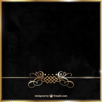 Fundo elegante do preto e do ouro