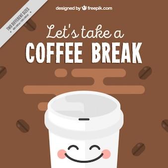 Fundo engraçado café