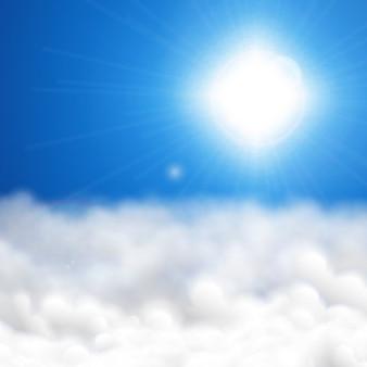 Fundo ensolarado do céu