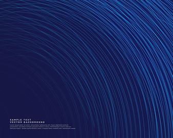 Fundo escuro com vetor de linhas de curva azul
