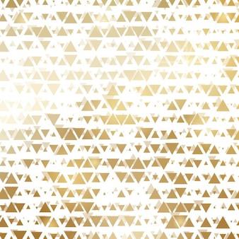 Fundo feito de triângulos dourados