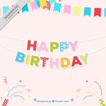 Fundo feliz aniversário com festão