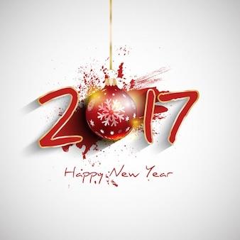 Fundo feliz ano novo com design da tipografia