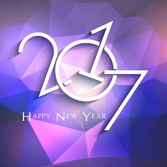 Fundo feliz ano novo com design geométrico