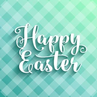 Fundo feliz de Easter com tipografia decorativo